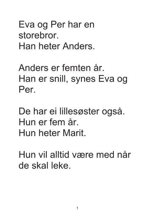 Eva og Per - Bok 3 - Lillesøster i fare - Oppgaver_2