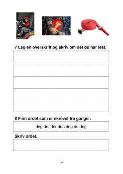 Fokus på skriving - hefte 3 - På brannstasjonen - Tekst 1B side 3