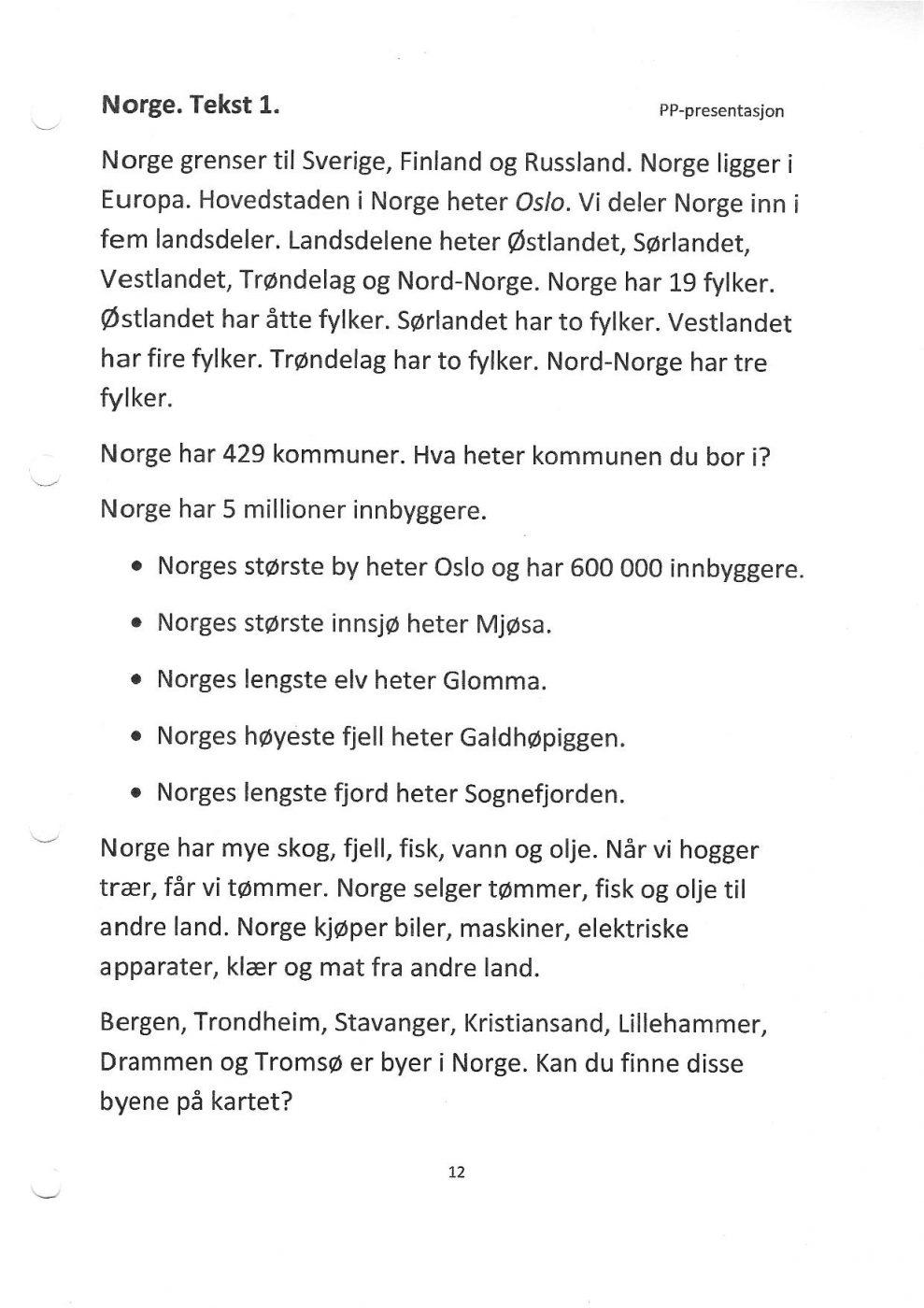 10 største byer i norge