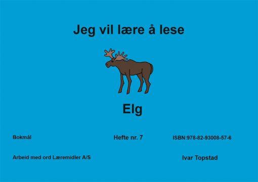 Jeg vil lære å lese - Elg - Bokmål