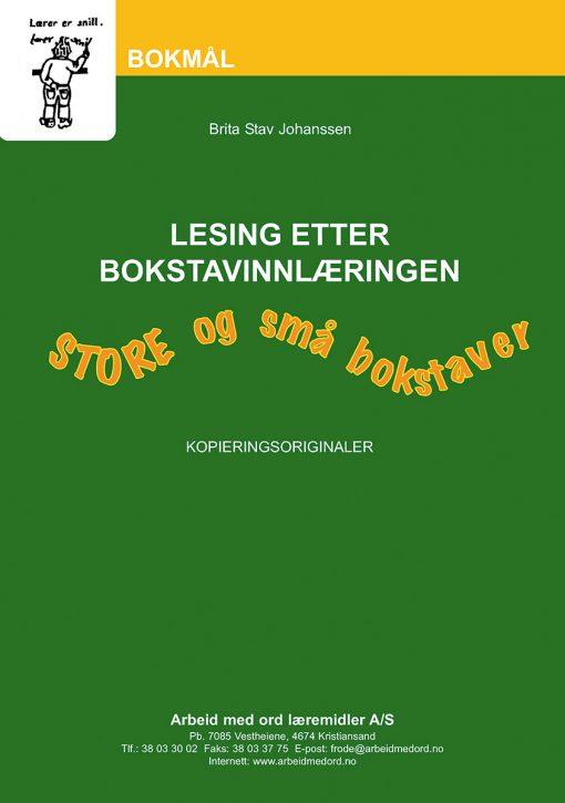 Lesing etter bokstavinnlæringen - Bokmål