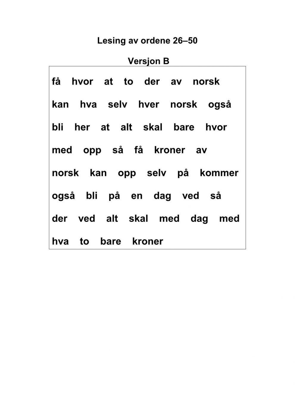 ord på c norsk
