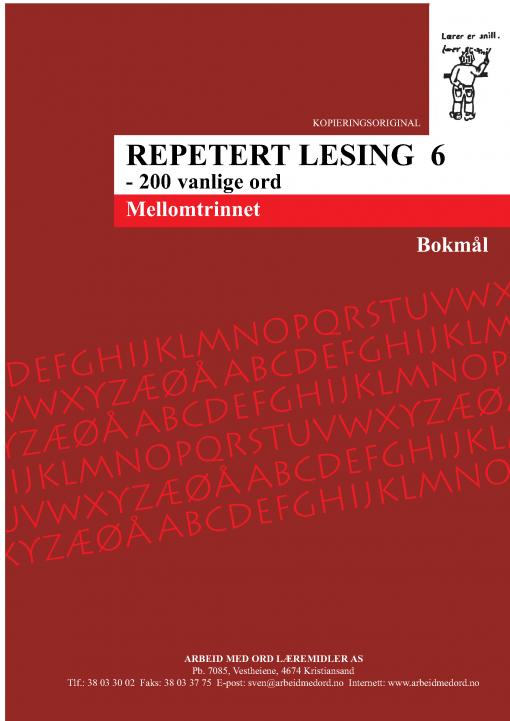 Repetert lesing 6 - Bokmål
