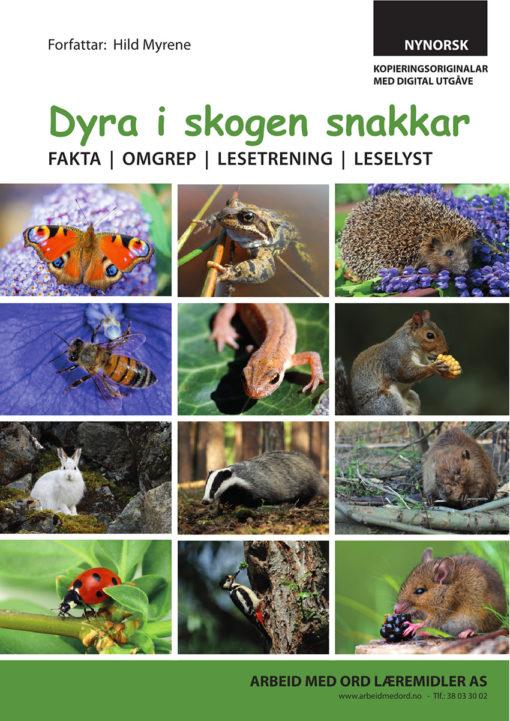 Nynorsk forside av Dyrene i skogen snakker