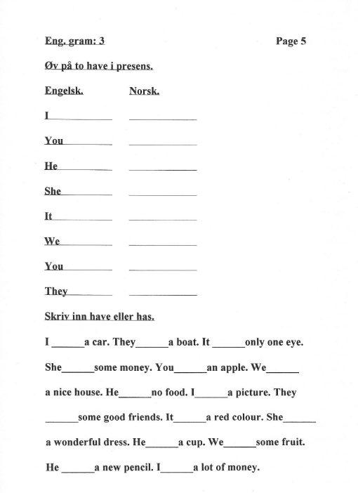 Eksempel #1 Grammar 3